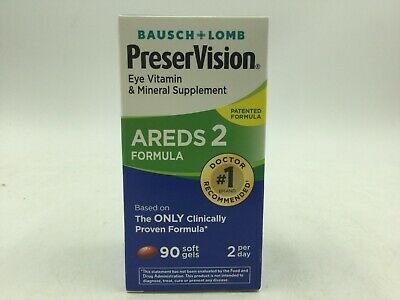 Bausch+Lomb PreserVision Areds 2 Formula Eye Vitamin 90 Softgels Exp:12/2020