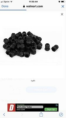 50 Pcs PG16 8-13mm Waterproof Cable Glands Fixing Cord Connector Joint Black