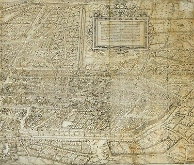 2 Large Hardback Maps Earliest Panoramic Town View Augsburg Germany 1521 A.d.