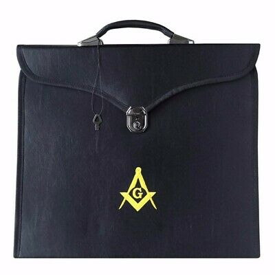 Masonic Provincial Apron case Master Mason embroidered square Compass & G