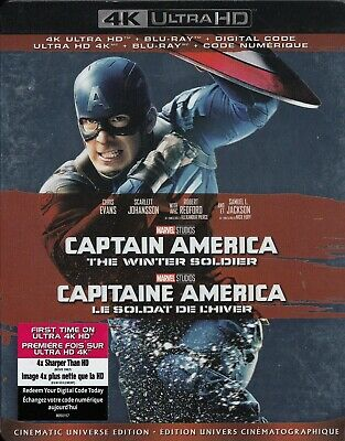 Captain America The Winter Soldier (4K Ultra Hd/Bluray)(2 Disc Set)(Used)