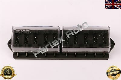 10 Way Heavy Duty Blade Fuse Box Holder Kit For Cars/Vans 12V -24V Volt