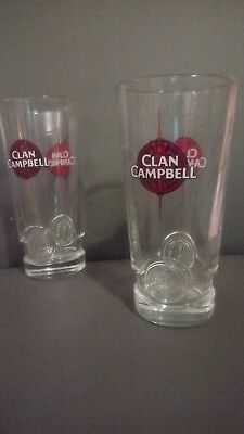 2 verres a whisky CLAN CAMPBELL NEUFS