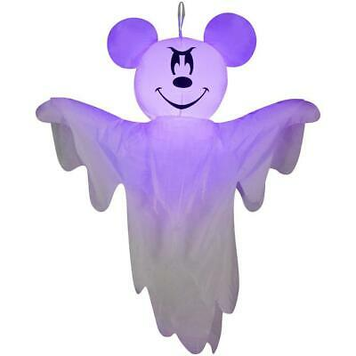 """53"""" Disney Mickey Ghost Halloween Airblown Inflatable Lighted Yard Prop Decor"""