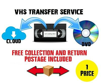 VHS to DVD Converter  / Transfer Service - Fast Reliable - VCR Digital Convert
