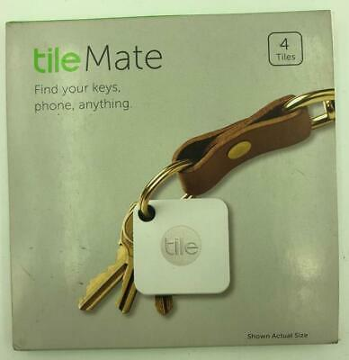 NEW 4 Pack of Tile Mate White Bluetooth Key Phone Wallet Tracker Finders