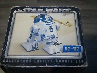 Star Wars R2-D2 Collectors Edition Cookie Jar Bust Statue Cards Inc Rare W/ Box