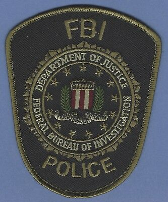 Fbi Federal Bureau Of Investigation Headquarters Police Patch Tactical Green