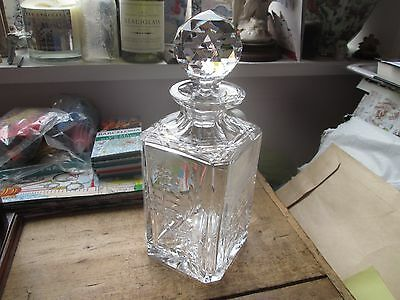 Crystal Decanter - Square Honeysuckle Beautiful Quality