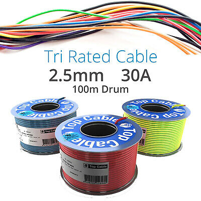 TriRated Panel//Control Wire//Automotive Car Cable 0.5mm 11 Amp In Pink 5M
