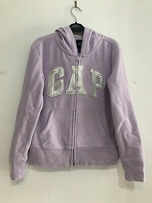 Gap Kids Girls Light Purple Zipped Fleece Hoodie Size XL 12 Years