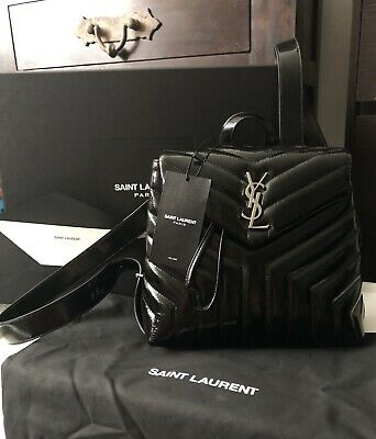 """46ca3646e0 YSL SAINT LAURENT Loulou Small Backpack In Matelassé """"Y"""" Leather W/ Receipt!"""