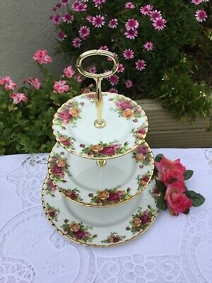 Royal Albert 'Old Country Roses' pattern ~ 3 Tier Cakestand