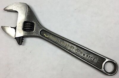 "6"" PROTO Challenger Tools 4206 Adjustable Crescent Wrench USA NICE Vintage Tool!"