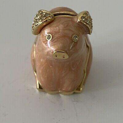 Estee Lauder 1996 piggy Pig  Solid Perfume Compact Collectible