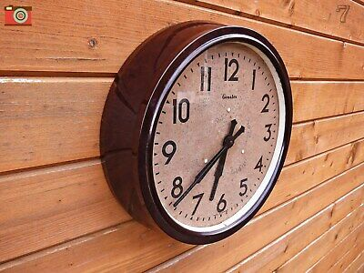 Vintage Large Genalex Wall Clock, Bakelite. Updated & Restored! Stunning Clock.