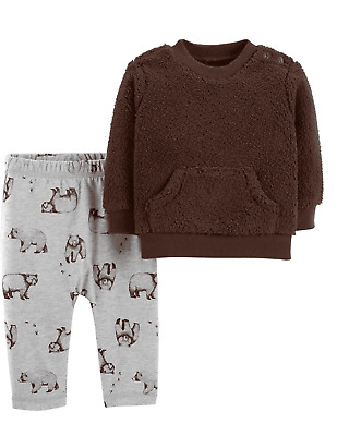 Carter's Baby Boys' 2-Piece Dog Cozy Pullover Top and Pant Set  Size 9 Months