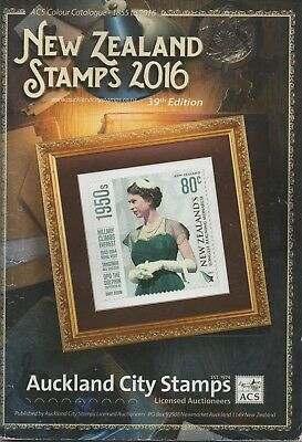 NEW ZEALAND 2016 ACS STAMP COLOUR CATALOGUE 39th EDITION USED