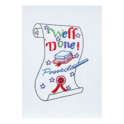 ANCHOR | Embroidery Kit: Exams Scroll Card | RDK45