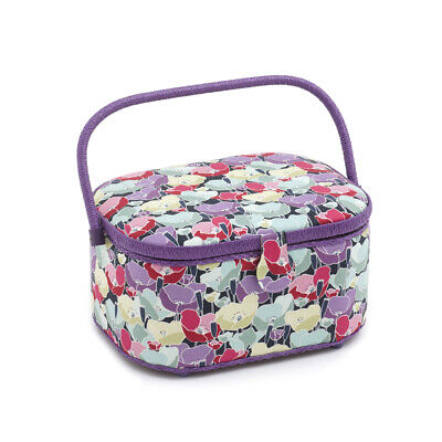S&W Collection HGLO284 | Large Oval Sewing Box | Spring Flowers Pattern