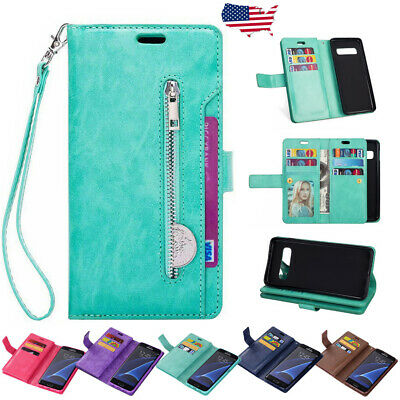 For Samsung Galaxy Note 8 S8 S9 Plus Flip Leather Case Cover Card Wallet Stand
