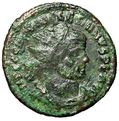 CHRISTIAN PERSECUTION Diocletian Roman Coin Tetrarchy Period 295-296AD CERTIFIED