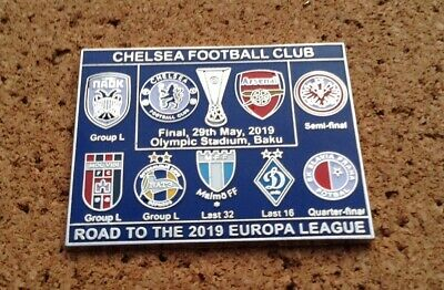 *NEW* Chelsea FC - Road to the 2019 Europa League Pin/Badge (blue)
