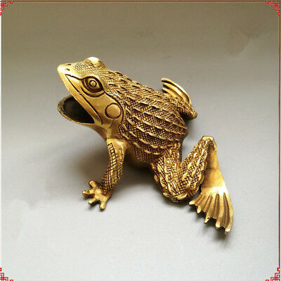 China handmade antique brass Frog Handicrafts Figurines Statues