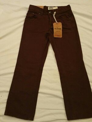 Boys Urban Pipeline Sz 8 R Low Rise Slim Fit Straight Leg Burgundy Jeans pants