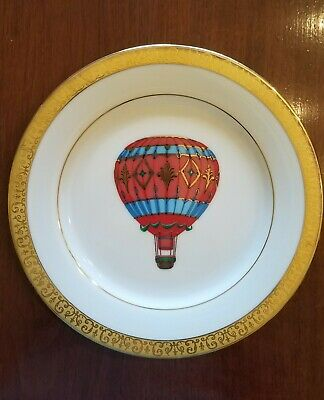 Vintage Royal Gallery Gold Buffet Red Balloon Plate