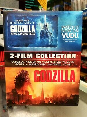 Godzilla 2014 ( BluRay + Digital)& Godzilla: King of The Monsters (Digital Only)