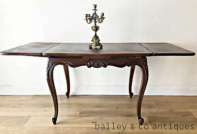 Antique French Extension Dining Table Desk Dainty Oak Louis Style - PQ013