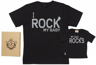 (Small & 12-18 Months) - Spoilt Rotten - I Rock My Baby & My Dad Rocks