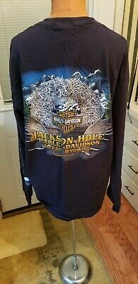 Men's Lot Of 2 HarleyDavidson Long Sleeve Vintage Cotton Tee Shirts SIZE X-Large
