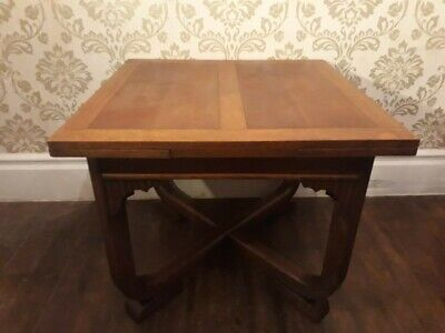 Vintage Scandinavian Style Teak Veneer Light Wood Extending Dining Table