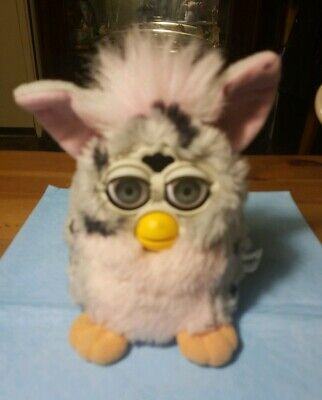 RARE Vintage 1998 TIGER Furby model 70-800 pink, gray w/ blue eyes WORKS GREAT
