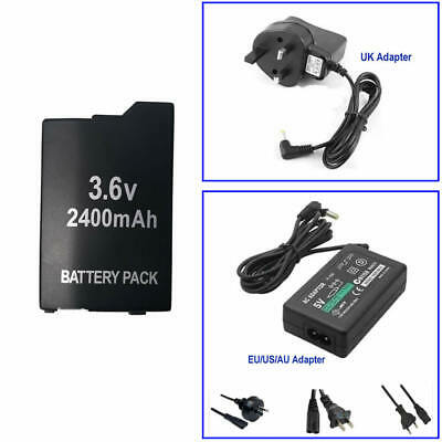 Battery Pack Or Home Wall Travel Charger AC Adapter for Sony PSP 2000 3000 Slim