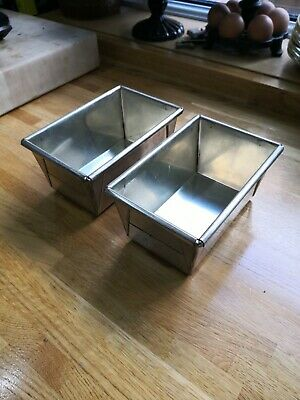 Pair of traditional style bread loaf baking tins, see photos