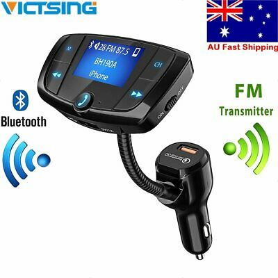 VicTsing Bluetooth Car FM Transmitter Kit AUX Wireless Radio Adapter USB Charger
