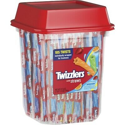 Twizzlers, Rainbow Twists Licorice Chewy Candy, 27.5 Oz.TUB