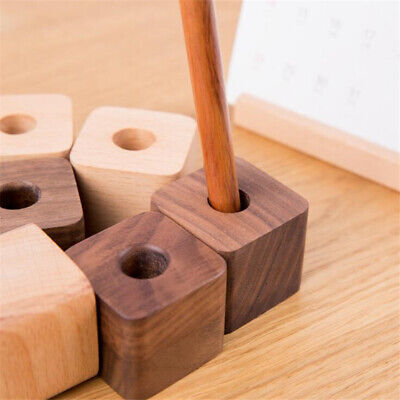Pen Pencil Organiser Desk Holder Wooden Stationary Organizer Drawer Pot LA