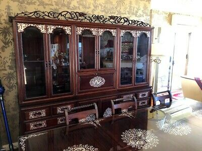 Chinese Mother of Pearl inlaid Dining Cabinet, Bought From HongKong 40years Ago.