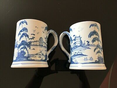 ISIS Ceramics by Deborah Sears Stunning blue and white Delft style Tankard