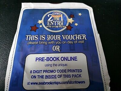 2 for 1 Alton Towers Voucher Exp May 2020 / Alton towers / 241 /discount