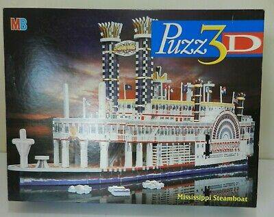 Puzz 3D Mississippi Steamboat by MB Games 718 Piece Jigsaw Puzzle Model Kit