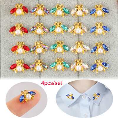Scrapbooking DIY Bow Accessories Sewing button Bee Rhinestone sew on beads