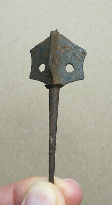 Ancient Viking Small Three-bladed Iron Spear Kievan Rus  10-13 AD SUPER RARE!