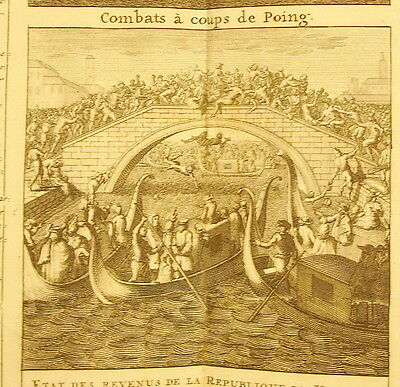 H Chatelain c1720 Republic of Venice Combats in Coup de Poing Boxing Lotta Pugno
