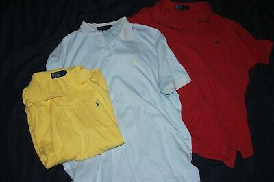 Lot of 3 Polo by Ralph Lauren Mens XL POlo Shirts Pony Logo 100% Cotton