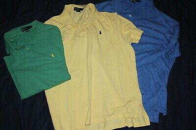 Lot of 3 Polo by Ralph Lauren Mens XL POlo Shirts Pony Logo 100% Cotton XLT